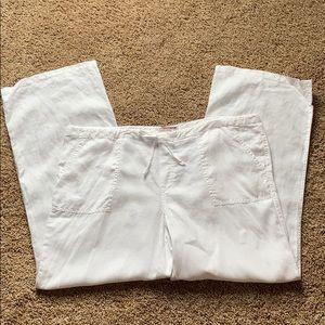 Victoria's Secret Wide Leg Linen Pants Size 14